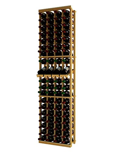 Wine Cellar Innovations TR-UN-4COLDS-A3 Traditional Series 4 Column with Display Wine Rack, Premium Redwood, Unstained