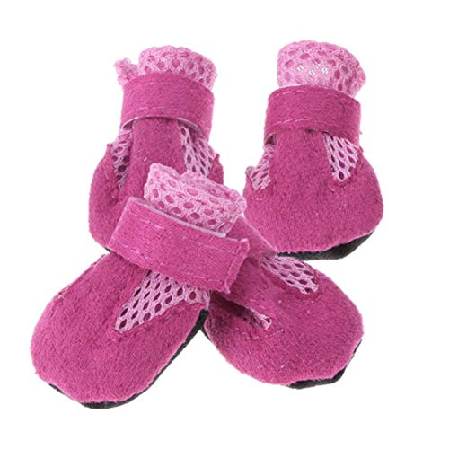 Jim-Hugh Spring Pet Dog Shoes Anti-Slip Boots Footwear Breathable Shoes for Small Cats Dogs Puppy Dog Booties Mesh Sneakers