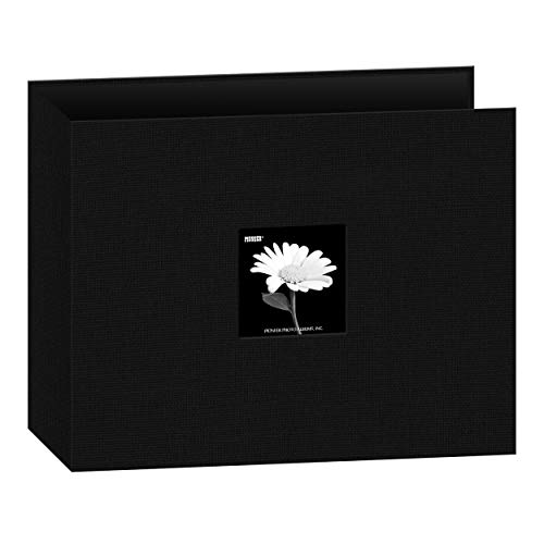 Pioneer 12-Inch by 12-Inch Fabric 3-Ring Binder Album with Window, Black