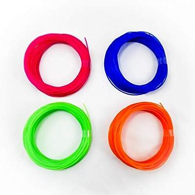 Pack de 4 muestras de filamento flexible y elástico TPU FilaFlex ...