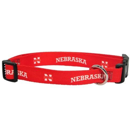 "MVPDOGS Nebraska Cornhuskers NCAA Dog Collar XS: 8-10"" length, 5/8"" width"