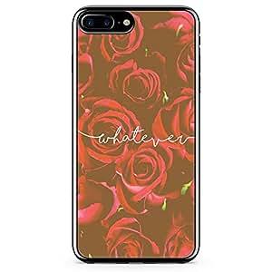 iPhone 8 Plus Transparent Edge Phone case Whatever Phone Case Beaufitul Rose Phone Case Red Rose iPhone 8 Plus Cover with Transparent Frame