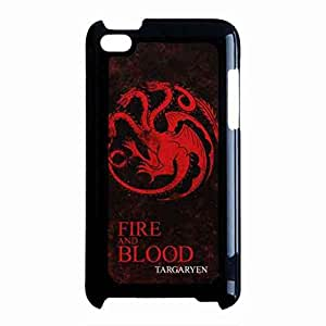 Fire And Blood Game Of Thrones Funda Back für iPod Touch 4th, Game Of Thrones iPod Touch 4th Cell Funda, iPod Touch 4th Game Of Thrones Funda Shell