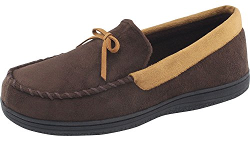RockDove Men's Memory Foam Moccasin Slippers / Moc Loafers with Indoor Outdoor Sole