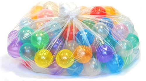 100 Wonder Playball Non-Toxic Crush Proof Quality Invisiball /w Mesh Tote, Red/Orange/Yellow/Green/Teal/Blue/Sky Blue/Purple/Pink/White