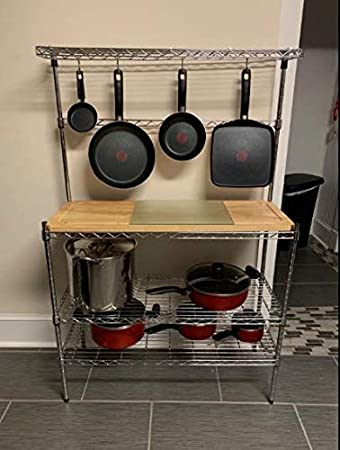 Amazon.com - Stainless Steel Kitchen Butcher Rack with ...