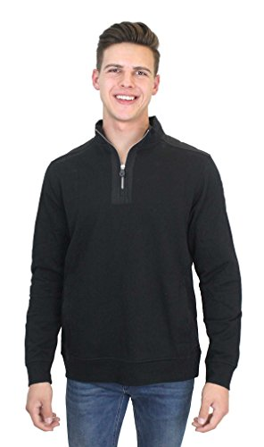 (Harley-Davidson HAAH-HC2Z Mens Mock Neck 1/4-Zip Fleece Black Long Sleeve Sweatshirt (X-Large))