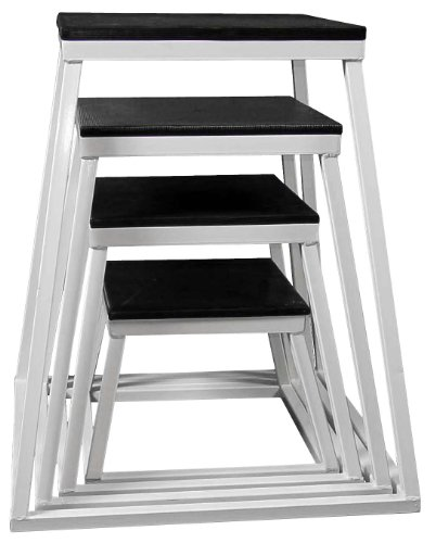 Ader Plyometric Platform Box Set- 12'', 18'', 24'', 30'', 36'', 42'' White by Ader Sporting Goods