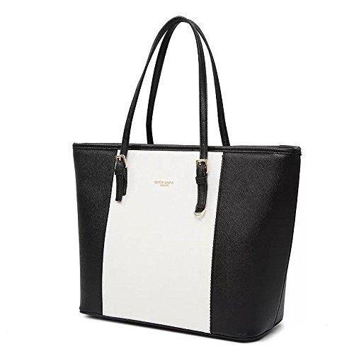 e7fc1cd6364f7 Amazon.com  Faux Leather Purse - Large Handbag Tote Bag for Women -  Accommodates