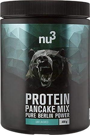 nu3 Pancakes con proteína - 400g de mezcla para tortitas sabor neutral - 28g de proteína de leche por porción - Perfecto como desayuno rápido y ...