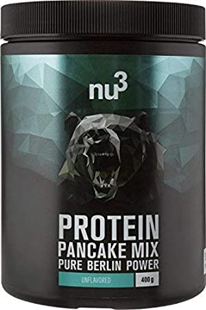 nu3 Pancakes con proteína | 400g de mezcla para tortitas sabor neutral| 28g de proteína