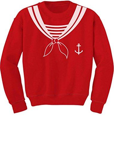 TeeStars - Halloween Sailor Costume Youth Kids Sweatshirt X-Large Red -