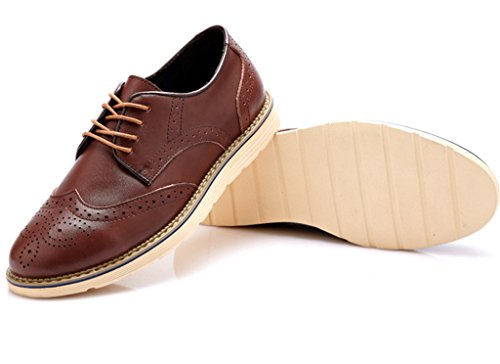Fangstobrogue Hombre Marrón De Vestir Zapatos Oxfords rn6wxq8aIr
