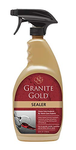 Granite Gold Sealer Spray - Water-Based Stone Sealing To Preserve And Protect Countertops - 24 Ounces (Best Granite Polish And Sealer)