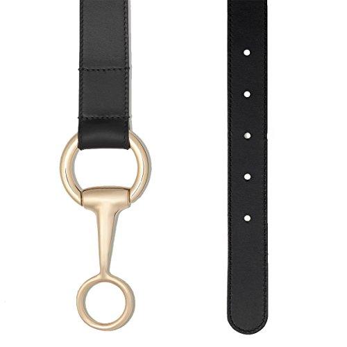 Gucci Belt with Round Buckle and Horsebit Detail 295338BGH0G1000, Black - Size (Horsebit Belt)