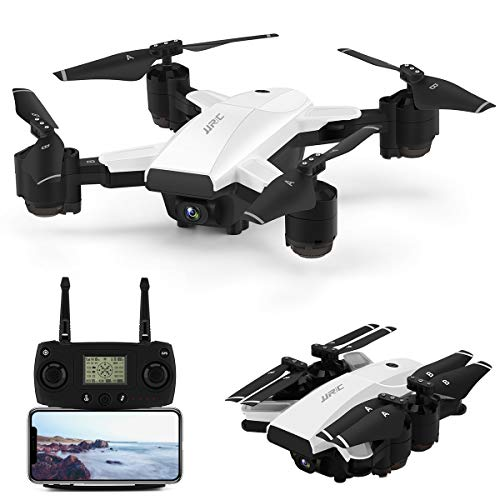 Foldable Drone with 1080P HD Camera Live Video,JJRC 5G WiFi FPV GPS Drone Long Flight Time 30Mins(15+15) RC Quadcopter with Follow me,Auto Return Home,Rc Folding Drone for Adults