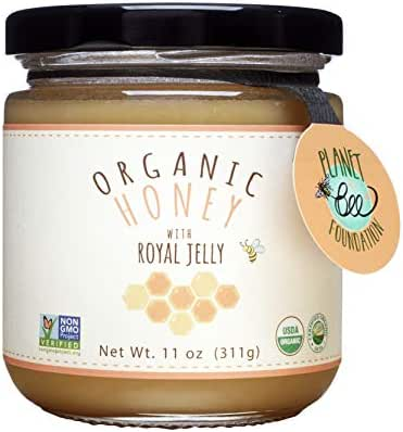 GREENBOW Organic Honey w/ Fresh Royal Jelly - 100% USDA Certified Organic, Gluten Free, Non-GMO - Highest Quality Whole Food Organic Royal Jelly Honey (11oz_Fresh Royal Jelly contents 16,000 mg)