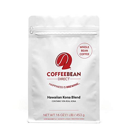 - Coffee Bean Direct Hawaiian Kona Blend, Whole Bean Coffee, 16-Ounce Bags (Pack of 3)