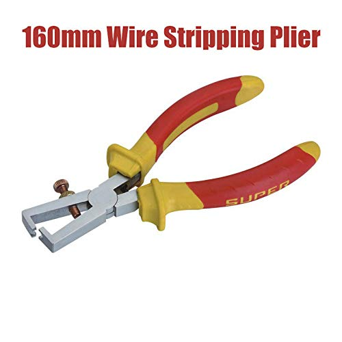 Wire Stripping Plier BE-TOOL 6 160mm Wire Stripper Adjustable Insulated Cable Strippers with Soft Grip