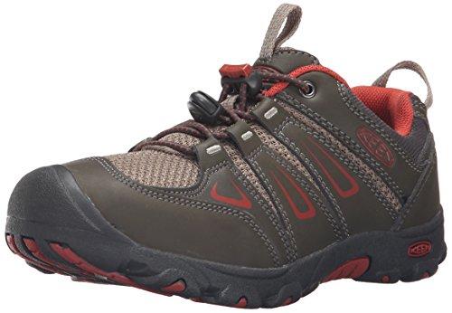 KEEN Oakridge Low Hiking Shoe (Little Kid/Big Kid), Black Olive/Bossa