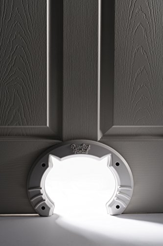 Built-In-Cat-Door-for-Medium-Large-Cats-Fits-Interior-Hollow-Core-or-Solid-Wood-Doors-Template-Self-Drilling-Screws-Instructions-Included-8x65-Inches-from-Purrfect-Portal