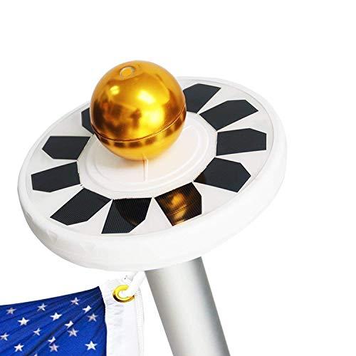 Cheap AVOMAR Solar Flag Pole lights 30 LED Weatherproof Flagpole Downlight Night Lighting for 15 to 25 Ft Flag Pole
