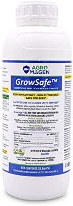 GrowSafe Bio-Pesticide Natural Miticide,Fungicide Insecticide.Better and Safer Than Other Oils for Plants,Non-Toxic,Control Spider Mites, Powdery Mildew.Concentrate (8.5oz) (33.8 Oz)