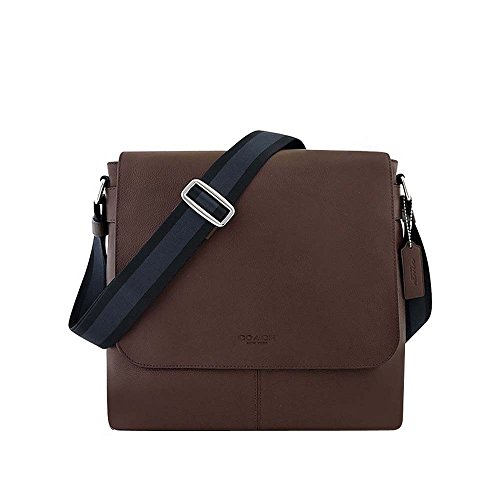 Coach New York Mens Charles Messenger Cross Body Bag, Mahogany Brown OS