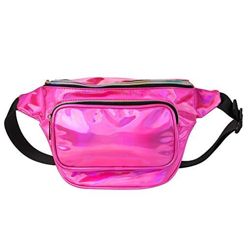 Mingus Waterproof Hologram Waist Bag for Women Outdoor
