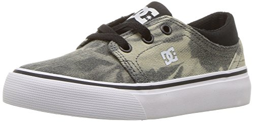 DC Youth Trase TX SE Skate Shoes, Black Print, 7 M US Big Kid (Kids Dc Shoes)