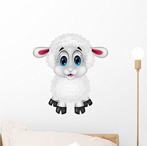 Wallmonkeys Cute Sheep Cartoon Peel and Stick Wall Decals...