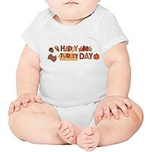 Juliuse Marthar Jumpsuits Happy Turkey Day Thanksgiving Baby Onesie Short Sleeve Shirt Romper