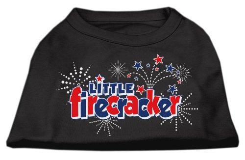 Mirage Pet Products Little Firecracker Screen Print Shirts Black S (10)