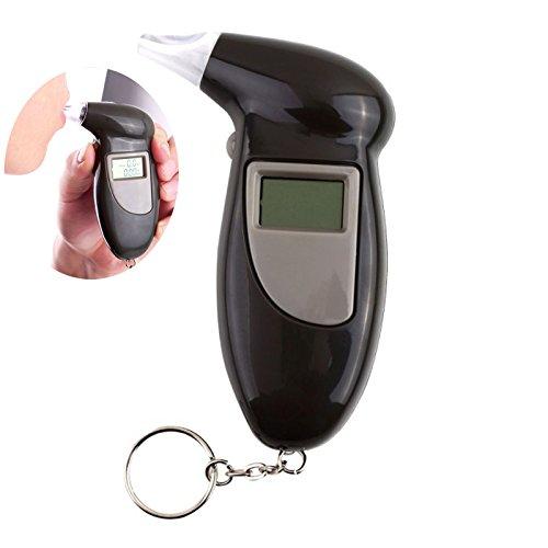 Adealink Digital Alcohol Breath Tester With Keychain LCD Display Professional Breathalyzer Analyzer Detector Test