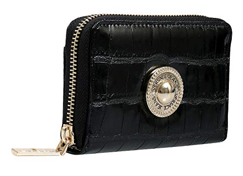 Versace EE3VSBPO2 E899 Black Compact Wallet for Womens
