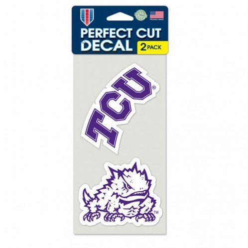 WinCraft NCAA Texas Christian University Perfect Cut Decal (Set of 2), 4