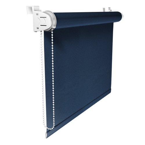 VICTORIA M Klemmfix Rollo ohne Bohren, Verdunkelung, 45 x 150 cm, dunkelblau