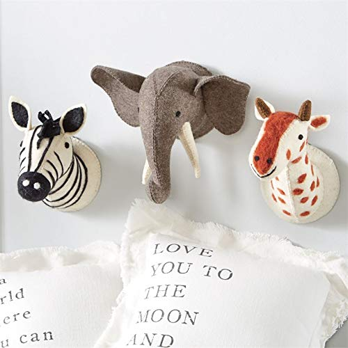 Mud Pie Baby Nursery Mini Wall Mounts (Zebra)