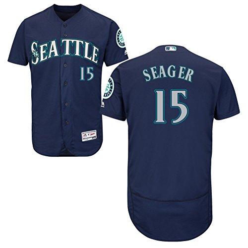 Seattle Mariners Jersey (15 Kyle Seager Jersey Baseball Jerseys Mens Blue Size)