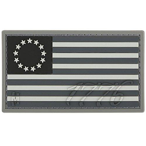 1776 USA Flag 3D PVC Velcro Patch . Swat Color
