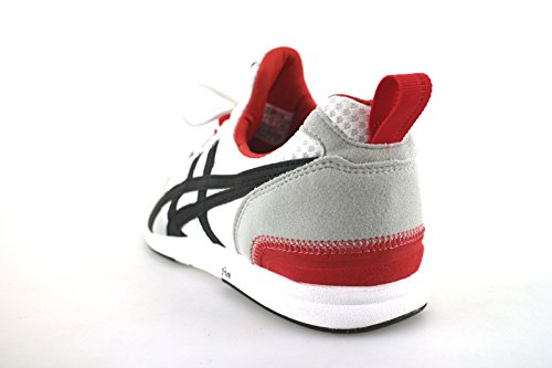 ONITSUKA TIGER sneakers uomo bianco nero tessuto camoscio pelle AH833