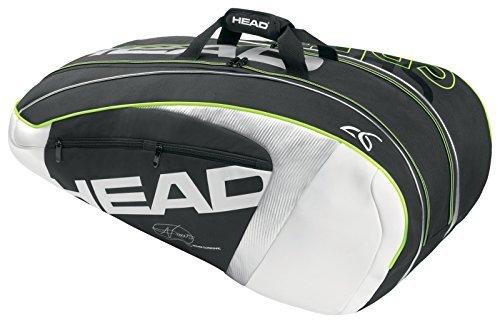 - Head Novak Djokovic 9R Supercombi Tennis Racquet Bag for 9 Racquets