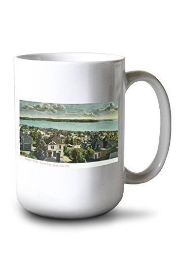 Lantern Press Seattle, Washington - Harborview from Queen Anne Hill (15oz White Ceramic Mug)