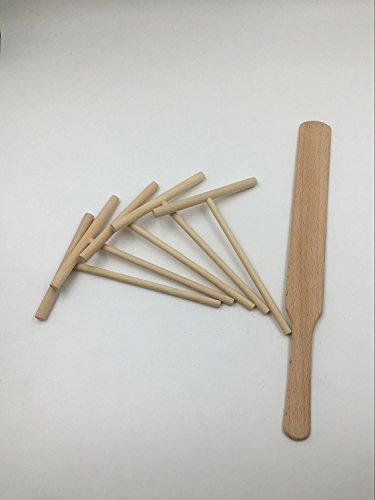 ASIBT 6-Piece Crepe Spreader & Spatula Set?All Natural Beechwood Construction From Indigo True Company