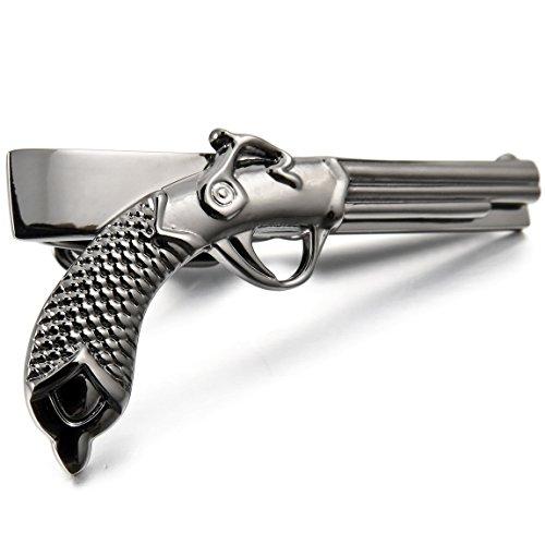 INBLUE Rhodium Plated Necktie Pistol