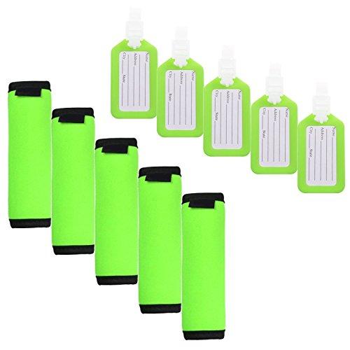 JIFF 5 PCS Comfort Neoprene Handle Wraps/Grip /Identifier for Travel Bag Luggage...