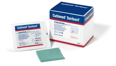 Cutimed® Sorbact® Dressing Pads 2.8 × 3.5 in. (7 × 8.9 cm), Box of 5: A6251