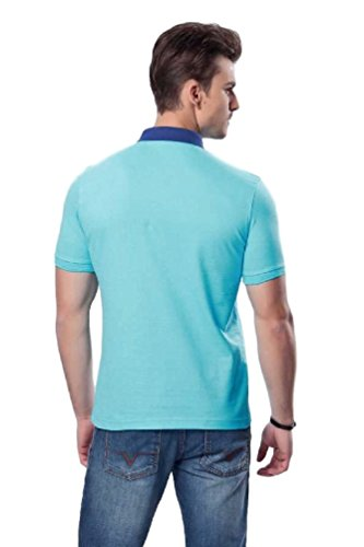 Versace V1969 - Herren Poloshirt, Blau Kragen, 100% Baumwolle, Custom Fit,  ...