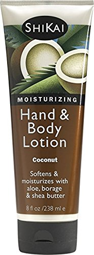 sturizing Hand & Body Lotion, Softens & Moisturizes Skin with Aloe Vera, Borage Oil & Shea Butter, Sensually Smooth Skin with Delicious Fragrances (Coconut, 8 Ounces) (Shikai Coconut)