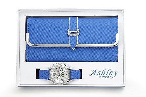 Women's Matching Watch & Wallet - Blue
